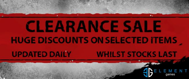 Clearance Sale (Super Discount Prices, whilst stocks last)