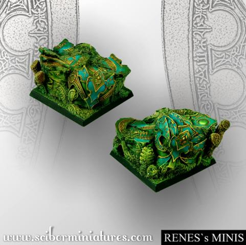 Elven Sky 40mm square bases (2)