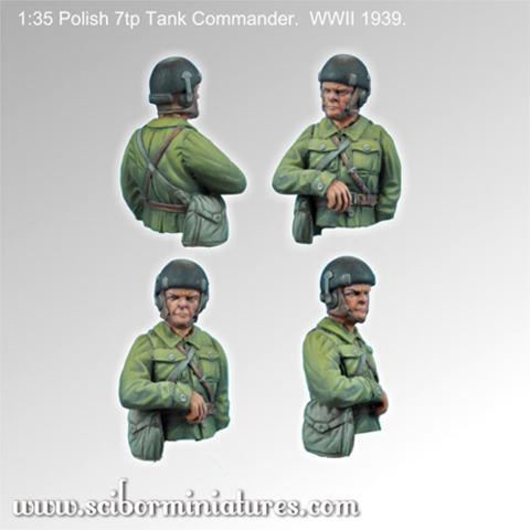 1x35 Polish 7tp Tank Commander #1