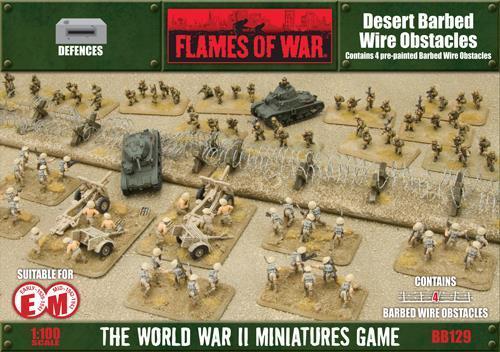 Desert Barbedwire X4 8x10cm