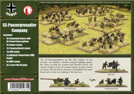 SS-Panzergrenadier Kompanie - German | Element Games