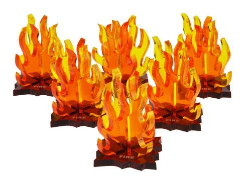 Fire / Explosion Markers (6 Pack)