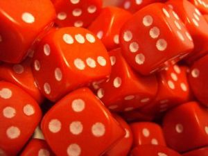 20 Dice (12mm D6) - Red