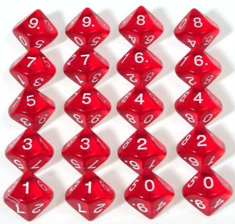 D10 (0-9) x10 (Red Gem)