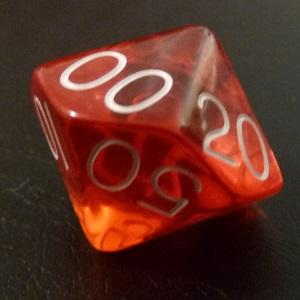 D10 (00-90) x10 (Red Gem)