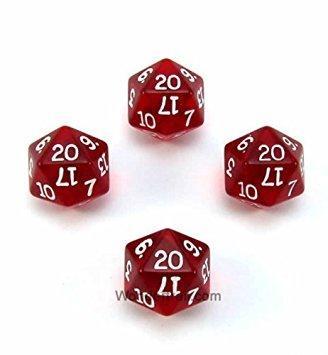 D20 (1-20) x10 (Red Gem)