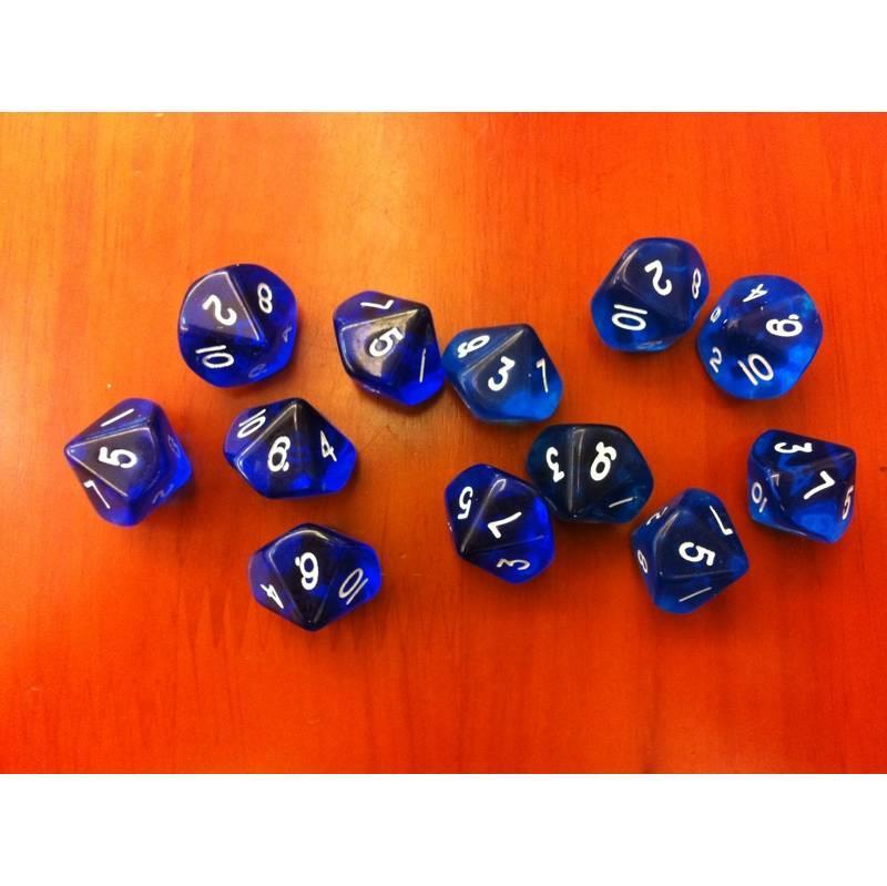D10 (0-9) x10 (Blue Gem)