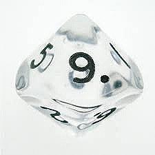 D10 (0-9) x10 (Clear Gem)