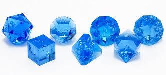 Bag of 7 Assorted Dice (Blue Gem)