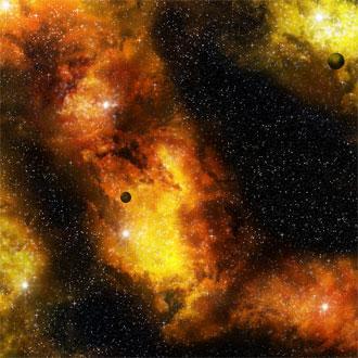 Fiery Nebula Space Mat