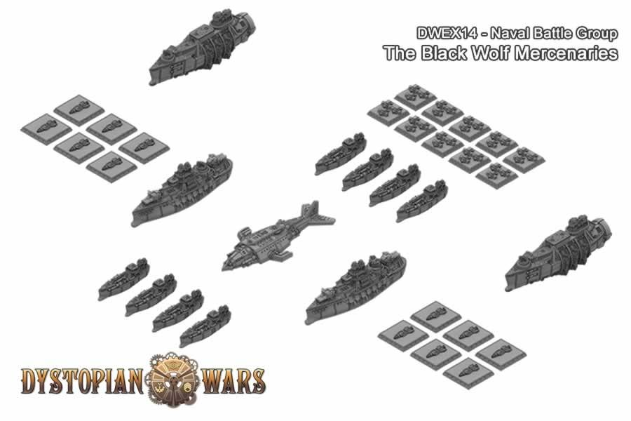 Dystopian Wars The Black Wolf Naval Battle Group