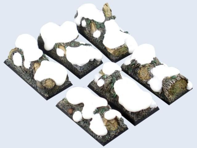 Winter Forest Bases, Cavalry 25x50mm (3)