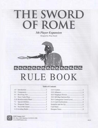 Sword of Rome 5th Player Exp.