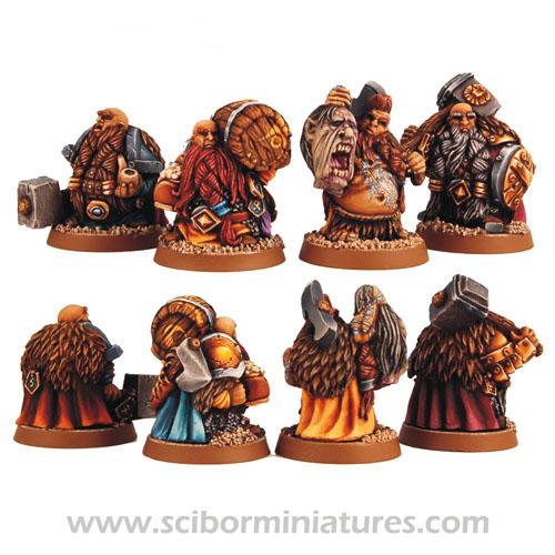 Dwarf Adventurers set (4)