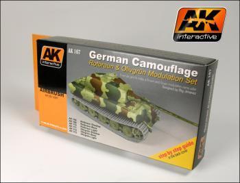 AK Interactive - German Green & Brown Modulation Set