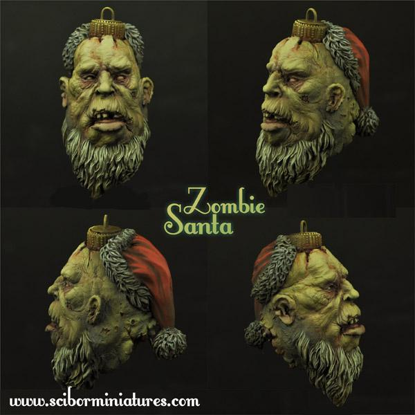 Zombie Santa Bulb