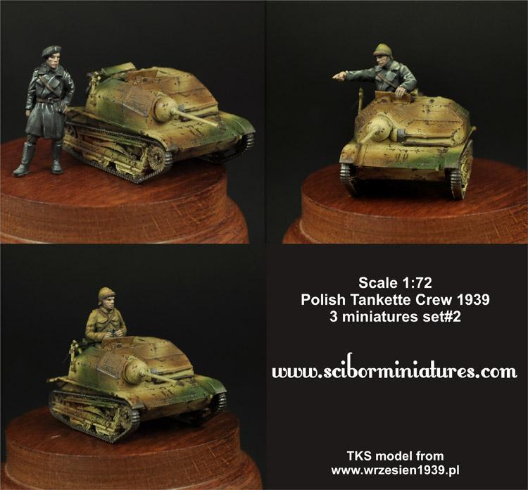 1x72 Polish TKS Tankette Crew Set #2 (3)