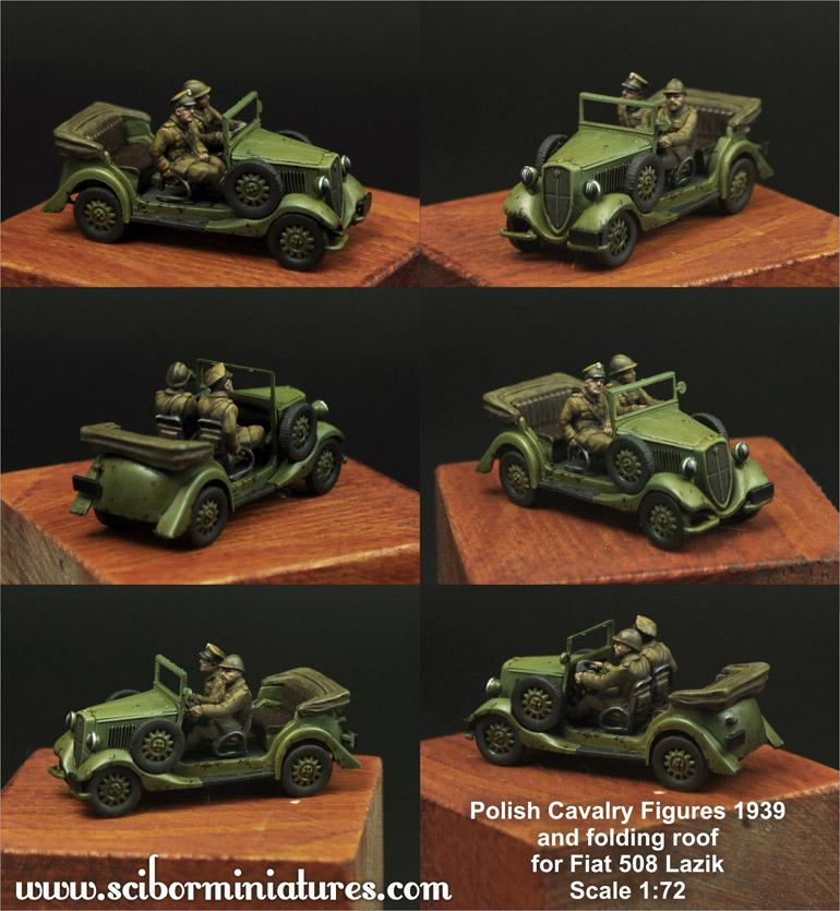 1:72 Polish Crew and roof for Fiat 508