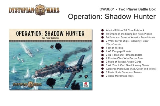 Dystopian Wars  2 Player Boxed Set Operation: Shadow Hunter