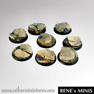 Egyptian Ruins 30mmRound Edge-Round Bases (5)