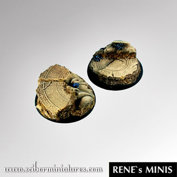 Egyptian Ruins 40mm Round Edge Bases #1 (2)