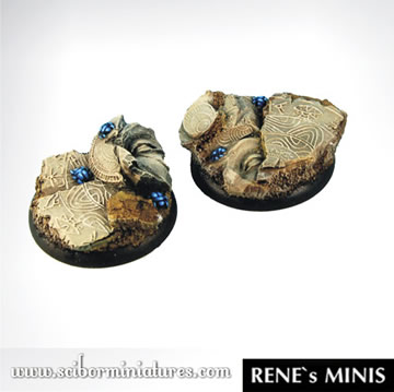 Egyptian Ruins 40mm Round Edge Bases #2 (2)