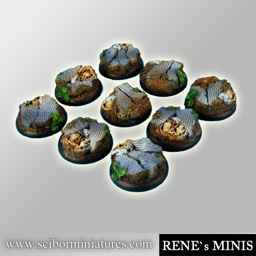 Temple of Time Ruins 30mm RoundEdge Bases