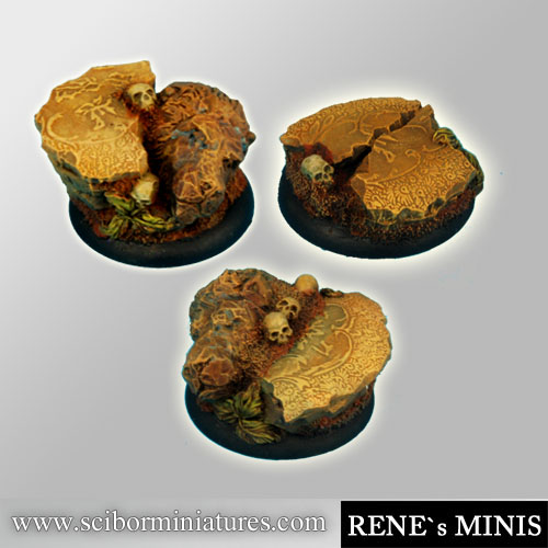 Royal Lions RuinsRoundEdge Bases 30mm