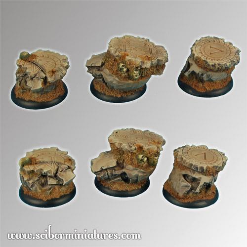 Spartan Ruins 30 mm round edge Bases set1