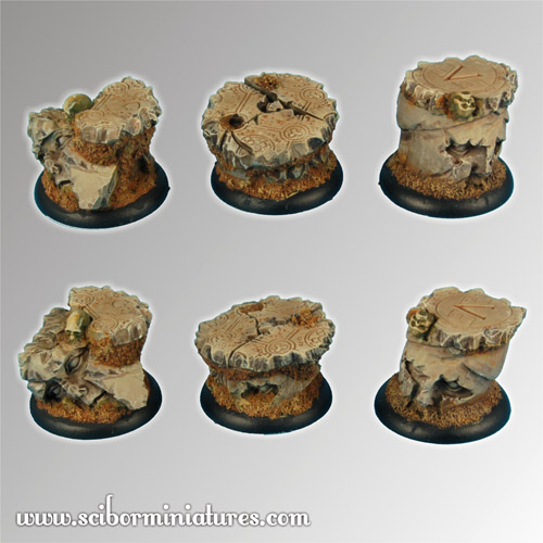 Spartan Ruins 30 mm round edge Bases set2