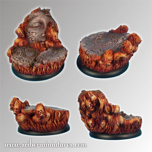 Straight from Hell 40mm round edge Bases