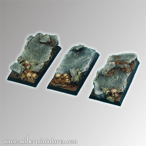 Rocky 25 mm / 50 mm square Bases (3)