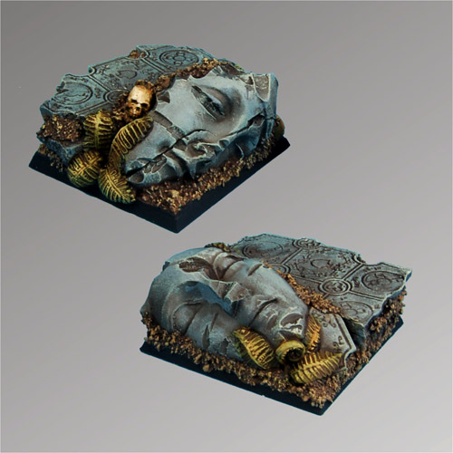 Ancient Ruins 40 mm square Bases (2)