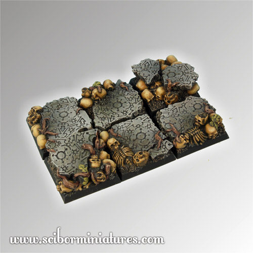 Chaos Ground Square Bases 25mm (5)