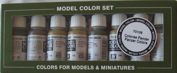 AV Vallejo Model Color Set - Panzer Colours (x8)