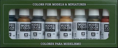 AV Vallejo Model Color Set - Metallics (x8)