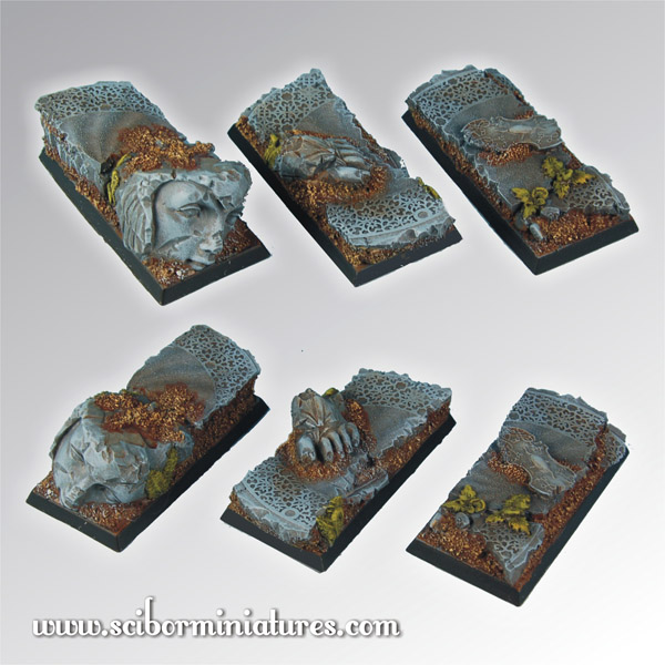 Elven Ruins Square Bases 50mm/25mm (3)