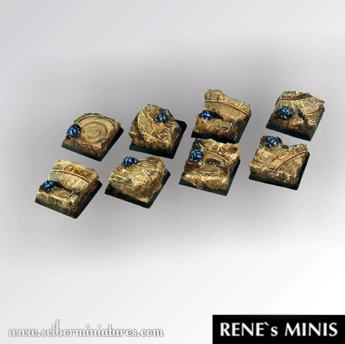 Egyptian Ruins Square Bases 20mm (5)