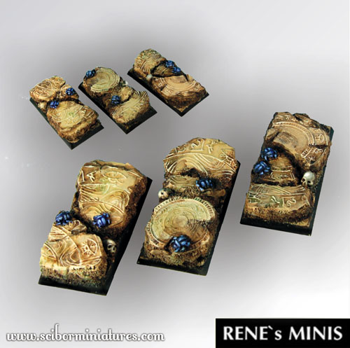 Egyptian Ruins Square Bases 50mm / 25mm (2)