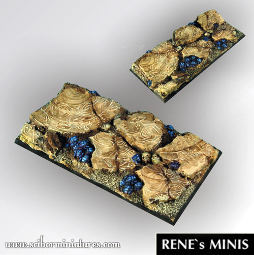 Egyptian Ruins 95 mm / 45mm square Base