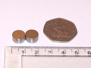 Rare Earth Magnets (10mm x 0.5mm) (x1)