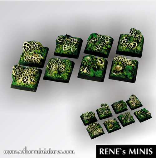 Elven Temple Ruins Square Bases 20mm (5)