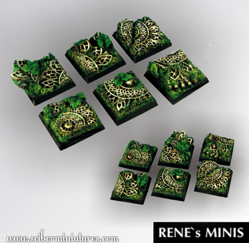 Elven Temple Ruins Square Bases 25mm (5)