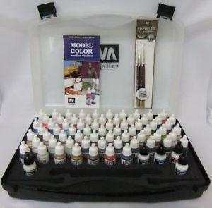 AV Vallejo Model Air Basic Range Box Set (72 colours + 3 brushes + carry case)