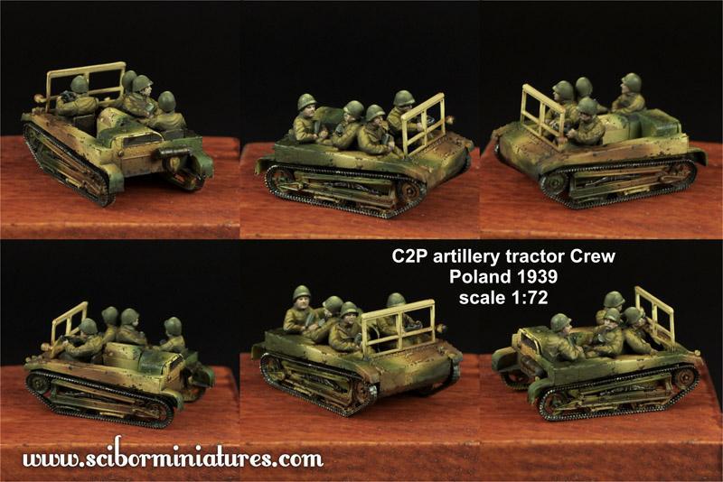 1:72 C2P artillery tractor Crew Set #2 (4)