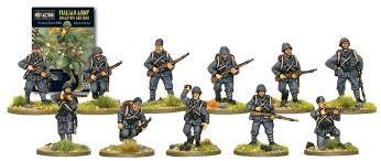 Italian Infantry (10 man squad, head variants)