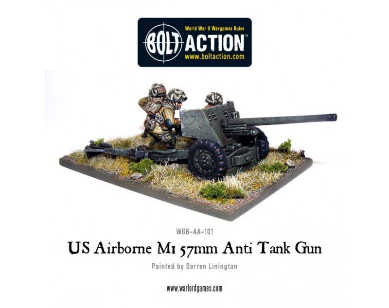 US Airborne 57mm ATG & Crew