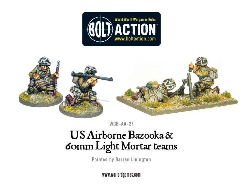 US Airborne Bazooka and 60mm light mortar teams