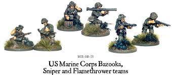 USMC Bazooka, Sniper & Flame Thrower Teams