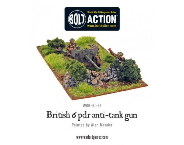 British Army Six Pounder AT Gun